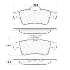 Centric Parts 105.10950 Rear Super Premium Ceramic Brake Pads