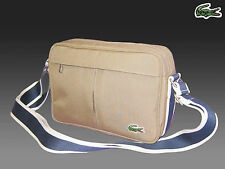 New Authentic LACOSTE Small Camera Shoulder Bag Casual 2.22 Dark Beige