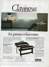 Publicité Advertising 1986  Clavinova Piano Musique YAMAHA amateur de claviers