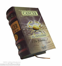 "Cancer new collectible small 2.65"" tall book easy to read hardcover in spanish"