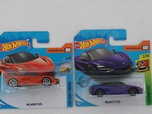 Hot Wheels - Pair of McLaren 720S Models in Sealed Blister Packs.