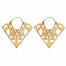 81stgeneration Pendientes Laton Color Del Diamante Oro Colgantes Un Geometrica