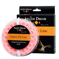 Fly Line WF1/2/3/4/5/6/7/8/9F Pink Floating Fly Fishing Line &2 loop & Spool Box