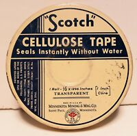 Vintage ORIGINAL Scotch Tape Tin -3M-RARE-Excellent Condition