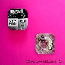 1x Maxell 317 Uhren Batterie Knopfzelle SR516SW Silberoxid Blisterware Neu Top