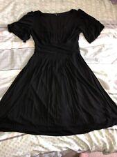 Ladies Coast Dress Black Size 12 Goth Steampunk Emo