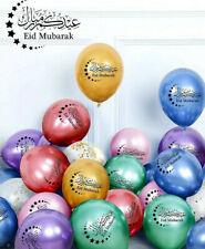 10 Eid Mubarak Balloons Metallic Chrome Finish Confetti Balloons Multicolour