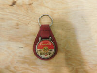 Vintage 1931-81 50th Campbell's Soup Leather Key Fob Ring Keychain Chain