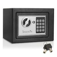 SereneLife Compact Electronic Safe Box with Mechanical Override, Includes Keys