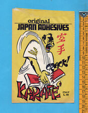 ORIGINAL JAPAN ADHESIVES-KARATE' - BUSTINA CHIUSA - VINTAGE ANNI 70 - cm.13X19