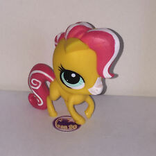 Littlest PetShop CHEVAL JAUNE CRINIERE ROUGE 3231 PONEY PONY Pet Shop M044