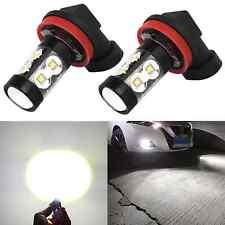 Alla Lighting 50W 1900lm H16 Super Bright 6000K White LED Fog Driving Light Bulb
