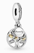 Genuine Pandora Sparkling Family Tree Dangle Charm Silver 791728C ALE 925