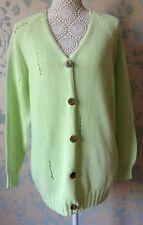 Women's Vintage Green Oversized Long Cardigan from Benetton NEW