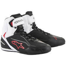 Alpinestars Faster 3 Men's Motorcycle Shoes Made of Microfibre - Black White Red