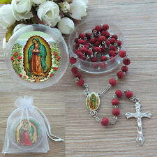 12  Our Lady of Guadalupe Red Rosary Favors Recuerdos de Bautizo Christening