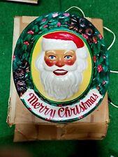 Antique 60's Merry Christmas, Santa illuminated  with original box (celluloid)