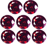 LOT CHERRY RED NATURAL DIAMONDS 2.30 mm. ROUND 0.05 CT. LOOSE VVS1