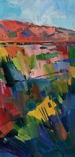 JOSE TRUJILLO Oil Painting IMPRESSIONISM COLORFUL SOUTHWEST DESERT LANDSCAPE NR