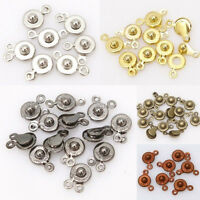 30 Pcs Snap Fastener Clasp Hooks Connectors For Bracelet Necklace Making  bw