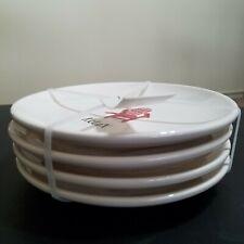 New Set Of 4 Rae Dunn Rest Relax Americana Dessert Plates By Magenta Ceramic