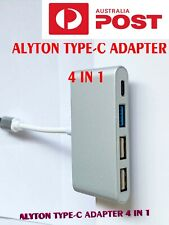 ALYTON 4-in-1 USB Type-C Hubs USB3.0 Adapters for Laptop, PC and Phones