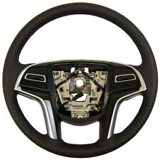 2015 Cadillac XTS Steering Wheel Black Leather W/Paddle Shifters New 23212527
