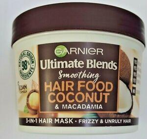 Garnier Ultimate Blends Smoothing Hair Food Coconut & Macadamia Mask 390 ml