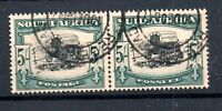 South Africa 1933 5/- Bilingual Pair Registered CDS used SG64 WS19053