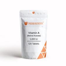 VITAMIN A TABLETS - 5,000 IU Natural Form as Retinol Acetate - Skin & Eyes