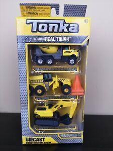 Tonka Real Tough Diecast Construction Crew 3PK Excavator/Grader/Mixer