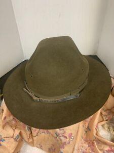 stetson hat antique vintage western cowboy mens felt chin strap