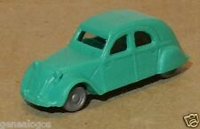 EURO MODELL NO HO 1/160 CITROEN 2CV TURQUOISE CLAIR CHASSIS GRIS