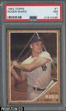 1962 Topps #1 Roger Maris New York Yankees PSA 7 NM