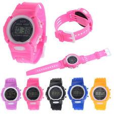 Boys Girls Students Time Clock Electronic Digital LCD Wrist Sport Watch Stylish