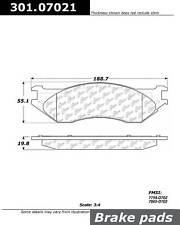Disc Brake Pad Set fits 2001-2008 Dodge Ram 2500 Ram 3500 Ram 2500,Ram 3500  CEN