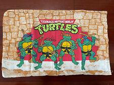 Vintage Teenage Mutant Ninja Turtles Standard Pillowcase 1988 Bibb Company