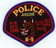 ARCHIE POLICE K-9 MISSOURI MO PATCH SHERIFF