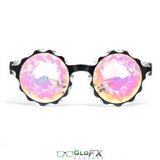 KALEIDOSCOPE GLASSES trippy effect glow light up FX raving accessories USA Made