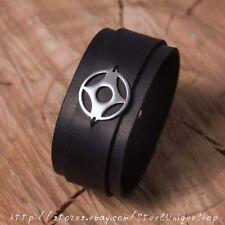 Kyokushin Kanku Karate Black Leather Bracelet