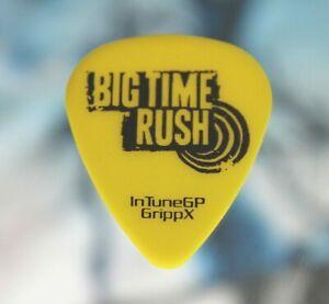 BIG TIME RUSH // Concert Tour Used Guitar Pick // Yellow/Black (Blank Back)
