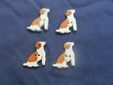 Jack Russell Ceramic Dog Buttons