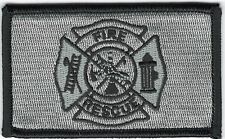 "Urban Gray Grey Black 2"" x 3 1/8"" Firefighter Fire Rescue Maltese Cross Patch"