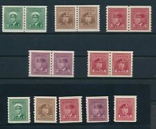 Canada COIL PAIRS SC #263-267 (MNH COMPL), #249-262 (MH & MNH COMPL) + MORE