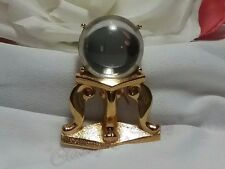 Vintage Gold Monet Rare Looking Glass Ball Footed Magical Fantasy Brooch Pin