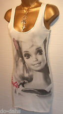 BNWT JANE NORMAN BARBIE DOLL 50th Anniversary White Vintage Diamante Top Size 8