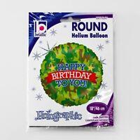 """18""""Camouflage Birthday Balloon, Attractive & Round Shape, Helium Balloon"""