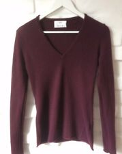 ALLUDE Pull Femmes Bordeaux 100% Cachemire Cashmere Taille S