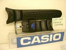 Casio watch band SPF-40. Casio Triple Sensor Blk Rub Strap Watchband