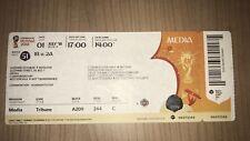 Los coleccionistas used media ticket WC #51 españa SPAIN rusia Russia WM 2018